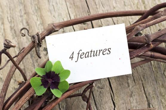 4Leavesの4つの特徴