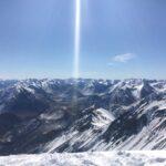 ニュージーランド、南アルプスを展望する 今季、ラストの春スキーにて